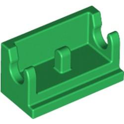 Green Hinge Brick 1 x 2 Base