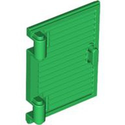 Green Shutter for Window 1 x 2 x 3 with Hinges and Handle - used