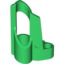Green Technic, Panel Fairing # 5 Small Short, Large Hole, Side A