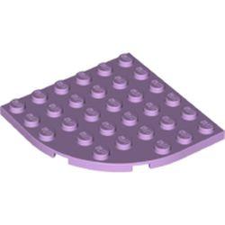 Lavender Plate, Round Corner 6 x 6