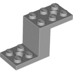 Light Bluish Gray Bracket 5 x 2 x 2 1/3 with 2 Holes and Bottom Stud Holder - new