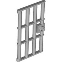 Light Bluish Gray Door 1 x 4 x 6 Barred with Stud Handle - used
