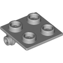 Light Bluish Gray Hinge Brick 2 x 2 Top Plate - used
