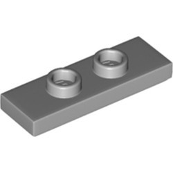 Light Bluish Gray Plate, Modified 1 x 3 with 2 Studs (Double Jumper) - new