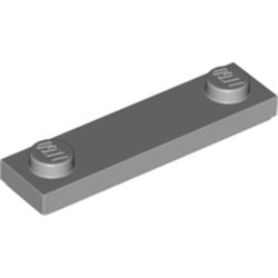 Light Bluish Gray Plate, Modified 1 x 4 with 2 Studs with Groove - new