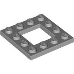 Light Bluish Gray Plate, Modified 4 x 4 with 2 x 2 Cutout - new