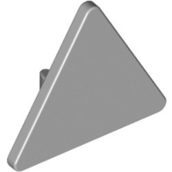 Light Bluish Gray Road Sign 2 x 2 Triangle with Clip