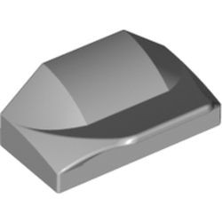 Light Bluish Gray Slope, Curved 1 x 2 x 2/3 Wing End