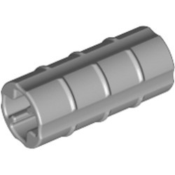 Light Bluish Gray Technic, Axle Connector 2L (Ridged with x Hole x Orientation) - used