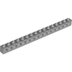 Light Bluish Gray Technic, Brick 1 x 16 with Holes - used
