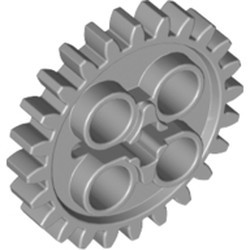 Light Bluish Gray Technic, Gear 24 Tooth (2nd Version - 1 Axle Hole) - used