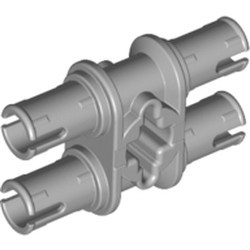 Light Bluish Gray Technic, Pin Double with Axle Hole