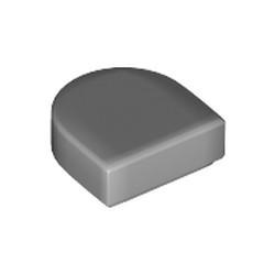 Light Bluish Gray Tile, Round 1 x 1 Half Circle Extended (Stadium) - new