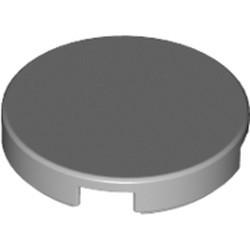 Light Bluish Gray Tile, Round 2 x 2 with Bottom Stud Holder - used