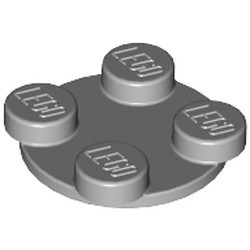 Light Bluish Gray Turntable 2 x 2 Plate, Top