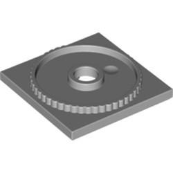 Light Bluish Gray Turntable 4 x 4 Square Base, Locking - new