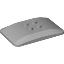 Light Bluish Gray Wedge 6 x 4 x 2/3 Quad Curved