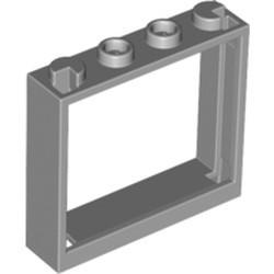 Light Bluish Gray Window 1 x 4 x 3 - No Shutter Tabs - used