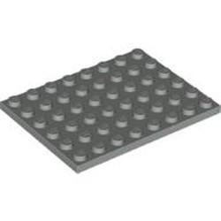 Light Gray Plate 6 x 8