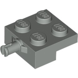 Light Gray Plate, Modified 2 x 2 with Wheel Holder