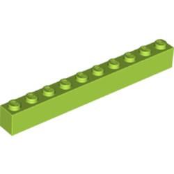Lime Brick 1 x 10 - new