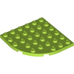 Lime Plate, Round Corner 6 x 6 - used