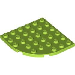 Lime Plate, Round Corner 6 x 6
