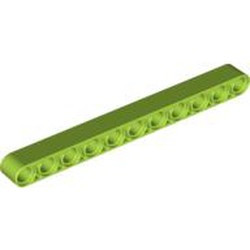 Lime Technic, Liftarm 1 x 11 Thick - new