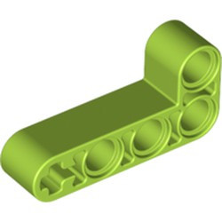 Lime Technic, Liftarm 2 x 4 L-Shape Thick - used
