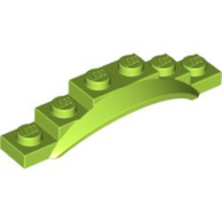 Lime Vehicle, Mudguard 1 1/2 x 6 x 1 with Arch