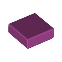 Magenta Tile 1 x 1 with Groove