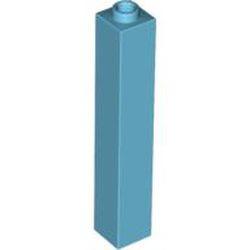 Medium Azure Brick 1 x 1 x 5 - Solid Stud