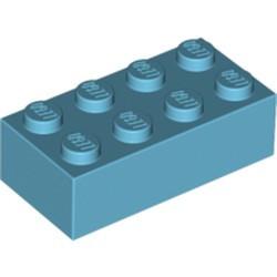 Medium Azure Brick 2 x 4