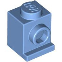 Medium Blue Brick, Modified 1 x 1 with Headlight - new