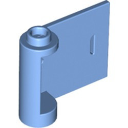 Medium Blue Door 1 x 3 x 2 Right - Open Between Top and Bottom Hinge with Horizontal White Line Pattern - new