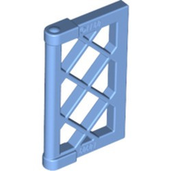 Medium Blue Pane for Window 1 x 2 x 3 Lattice with Thick Corner Tabs - used