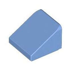 Medium Blue Slope 30 1 x 1 x 2/3 - used