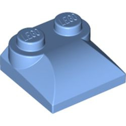 Medium Blue Slope, Curved 2 x 2 x 2/3 with Two Studs and Curved Sides