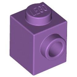 Medium Lavender Brick, Modified 1 x 1 with Stud on 1 Side