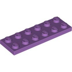 Medium Lavender Plate 2 x 6 - used