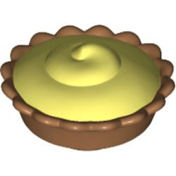 Medium Nougat Pie with Bright Light Yellow Cream Filling Pattern