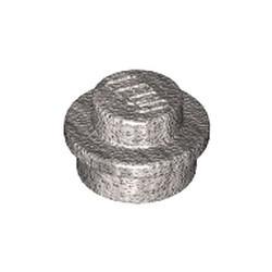Metallic Silver Plate, Round 1 x 1 - new