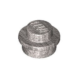 Metallic Silver Plate, Round 1 x 1