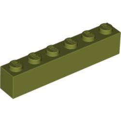 Olive Green Brick 1 x 6 - used