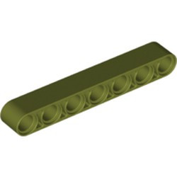 Olive Green Technic, Liftarm 1 x 7 Thick - new