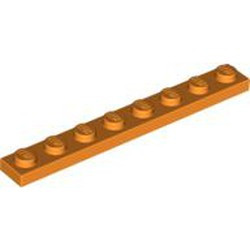 Orange Plate 1 x 8 - new