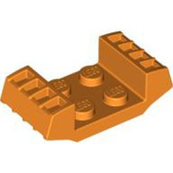 Orange Plate, Modified 2 x 2 with Vents