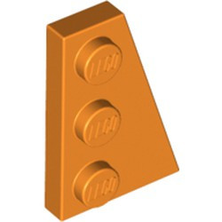 Orange Wedge, Plate 3 x 2 Right