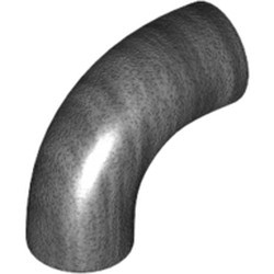 Pearl Dark Gray Brick, Round 1 x 1 d. 90 Degree Elbow - No Stud - Type 2 - Axle Hole