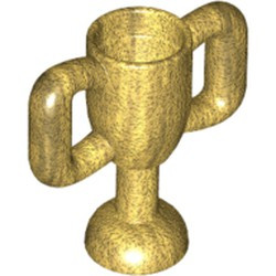 Pearl Gold Minifigure, Utensil Trophy Cup Small - new
